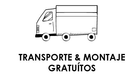 TRANSPORTE Y MONTAJE GRATUITOS